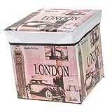 P Prettyia Sitzhocker Faltbar Fußhocker Aufbewahrungsbox mit Deckel Zusammenklappbar Hocker - Big Ben