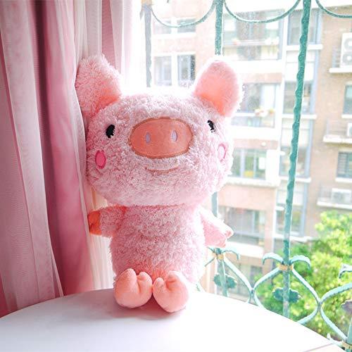 feimeifen Süße Ferkel Puppe Plüsch Spielzeug Mädchen Makkaroni Freche Puppe Kind Geschenk Schlafen Ins Puppe 58 cm Rosa Schwein Puppen (Kind Makkaroni)