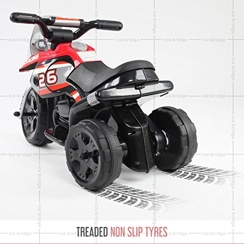 Toyzz 2017 Kids Ride on Kids Motorcycle Motorcross Electric Scooter Motorbike 6V Battery Operated Toy Car Bike (RED)