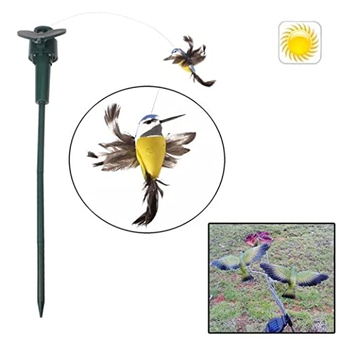 Lifelike Decorative Garden Courtyard solaire Flying Bird Toy (Yellow)