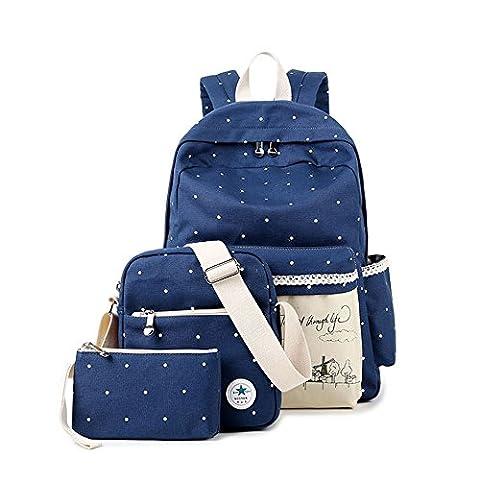SymbolLife Casual Style Lightweight Canvas Laptop Bag/ Shoulder Bag/ Bookbag/