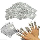 CSL 100 x Nail Art Soak Off Remover Gel Polish Acrylic Removal Foil Wraps