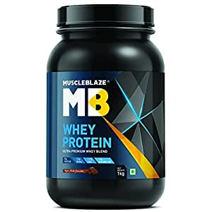 MuscleBlaze 100% Whey Protein - 2.2 lb/ 1 kg, 30 Servings (Rich Milk Chocolate)