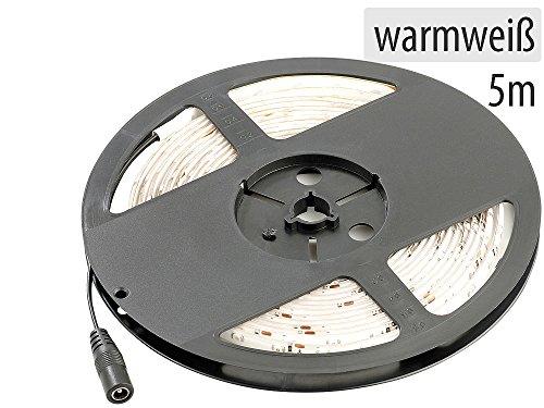 Lunartec LED Lichtstreifen: LED-Streifen LE-500MA, 5 m, weiß, Outdoor IP65 (LED Stripes Outdoor)