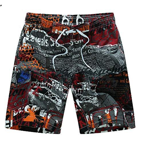 ZHOUJINGTIAN Sportswear-Shorts für Herren Sommer Herren Strand Shorts Schnell trocknend Druck Board Shorts A3 XL