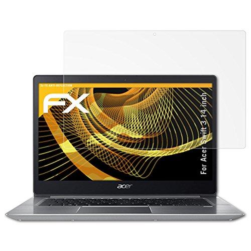 atFolix Panzerfolie kompatibel mit Acer Swift 3 14 inch Schutzfolie, entspiegelnde und stoßdämpfende FX Folie (2X)