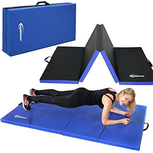 Eyepower Gymnastikmatte 200x100x5cm Turnmatte Sportmatte Weichbodenmatte Blau