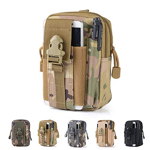 Tactical Waist Bag Universal Outdoor EDC Military Holster Waist Wallet Pouch Phone Case Gadget Pocket for iPhone X 8 7 6 6s Plus Samsung Galaxy S8 S7 S6 S5 S4 S3 Note 8 5 4 3 2 LG G5 LG HTC (Camouflage-B)