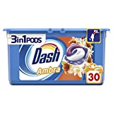 Dash 30 Pods 3in1 Ambra Detersivo Lavatrice in Monodosi, Formato da 30 Capsule