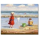 Trademark Fine Art Am Strand II von Master 's Kunst, 26x 32Leinwand Kunst