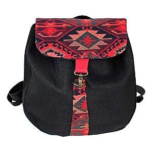 Rucksack Damen wasserdicht schwarz-rot| Tasche | HANDMADE | Geschenkideen für Frauen