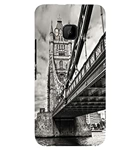 Printvisa London Bridge In Vintage Background Back Case Cover for HTC One M9::HTC M9::HTC One Hima