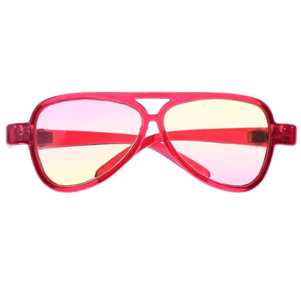 Sharplace Occhiali Specchio Montatura Ovale Moda Per 1/3 Bambola Accessori Plastica Regalo - Rosa