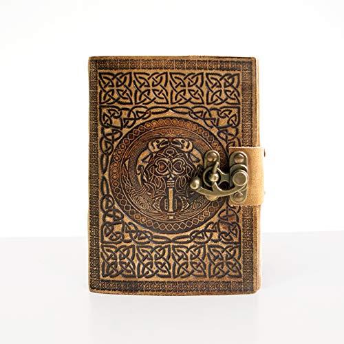 Handgefertigtes Leder Reisetagebuch von DreamKeeper - Tolles Vintage Notizbuch - Ideal zum Führen eines Tagebuchs oder zum Aufschreiben von Gedanken - Journal Diary Notebook - tolles Geschenk (Journal Oder Tagebuch)