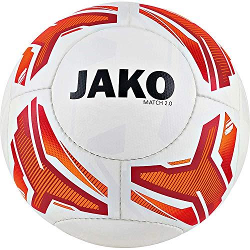 JAKO Fussball Lightball Match 2.0 2330 weiß/Neonorange/rot 5 (290g)