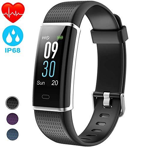 AIMIUVEI Fitness Tracker Smartwatch Cardiofrequenzimetro da Polso Schermo a Colori Pedometro GPS Contapassi Braccialetto Impermeabile 68 Orologio Fitness Donna/Uomo per iPhone Samsung Xiaomi Huawei