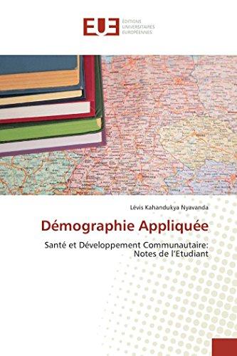 Démographie Appliquée par Lévis Kahandukya Nyavanda
