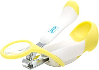 Mee Mee Gentle Nail Clipper with Magnifier (White/Yellow)
