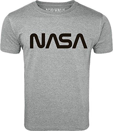 ACID WASH PRINT LTD Vintage NASA Logo Retro Space Nebula T-Shirt