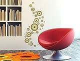 I-love-Wandtattoo WAS-10159 Retro Wandtattoo Set 'Retro Dots in Orange, Mint und Braun' 35 Stk Wandsticker Wandaufkleber Sticker Wanddeko