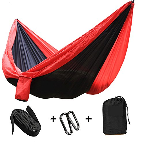 Outdoor Camping Hängematte - Portable Anti-Fade Nylon Single & Double Hängematte mit Outdoor-Fallschirm Hängematte Camping Schaukel Stuhl