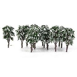Generic 20pcs Ancient Trees Model Train Snow Scenery Landscape Scale 1:100-150