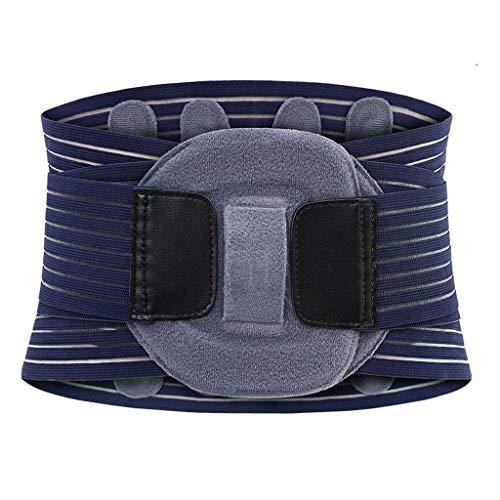 Schutzgürtel Blau-Grauer Bund Vollelastisch Atmungsunterstützung Bandscheibenvorsprung Fest MUMUJIN (größe : 95cm) -