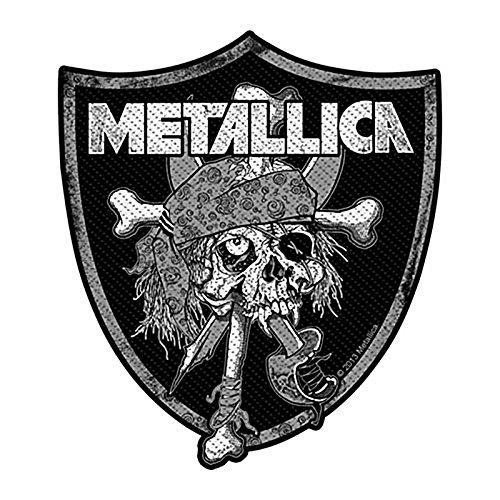 Metallica Raiders Skull Aufnäher Patch Tuch 110mm x 90mm (RO)