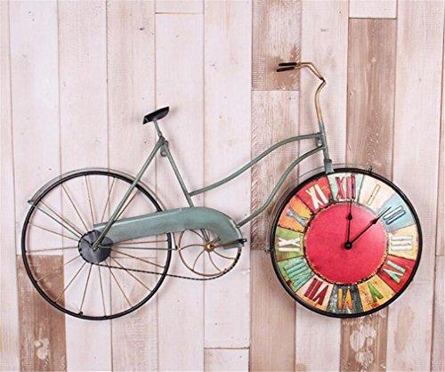 MAIDIAO Retro stile antico American Vintage Muto fai da te biciclette Movimento al quarzo Orologio da parete del salone della casa e Bar Cafe Decor