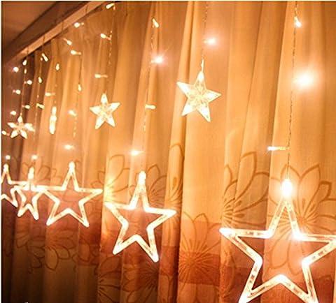 Saflyse LED Stern Lichterkette Deko Beleuchtung Lichtervorhang