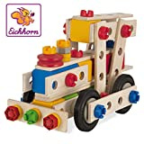 Eichhorn - 100039027 - Jeu de Construction Bois - Locomotive 4 en 1 - 100 Pièces Bois