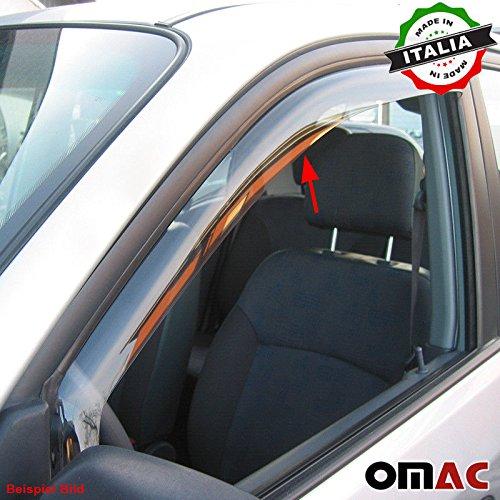 Omac GmbH Dacia Duster Windabweiser Regenabweiser 2 tlg Satz Vorne 2010-2013