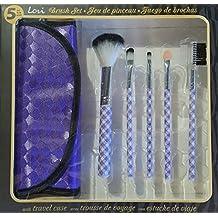 richy-rich. 2007Make Up Brush Set–5piezas con Color morado funda