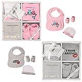 Costanzo Enrico Designer 3 Teile-Baby-Geschenk-Set für Jungen und Mädchen (Grau)