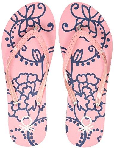 9. United Colors of Benetton Women's Pink Flip-Flops