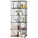 House Of Quirk Closet Cabinet Metal Wire Storage Cubes Organizer (10 - Regular Cube) (30X30 Per Cube Size)