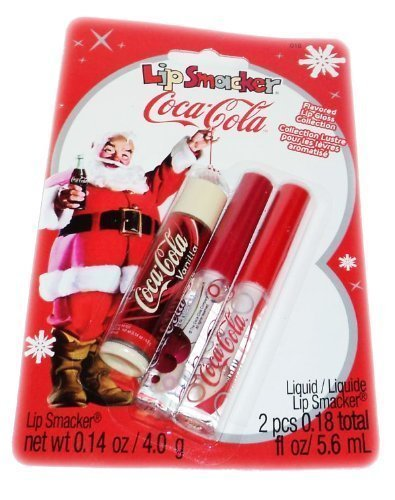 lip-smacker-santa-clause-coca-cola-flavored-lip-balm-gloss-3-pack-gift-set-collection-by-bonne-bell