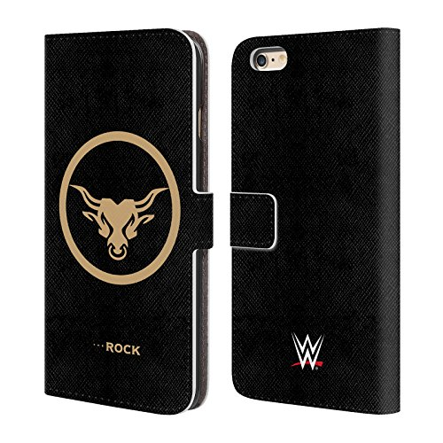 official-wwe-golden-brahma-bull-the-rock-leather-book-wallet-case-cover-for-apple-iphone-6-plus-6s-p