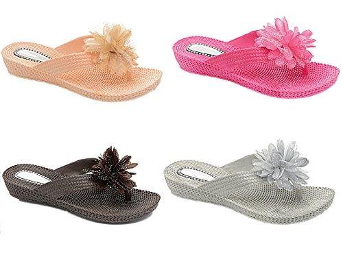 Foster Footwear - Scarpe con plateau bambina donna Silver