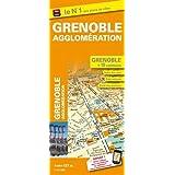 Plan de ville de Grenoble et de son agglomération - Echelle : 1/12 700