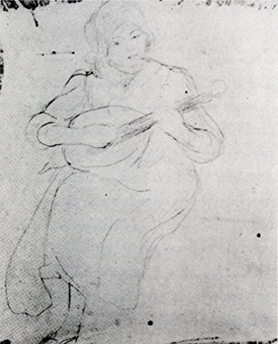 Das Museum Outlet-1889Julie mit der Mandoline-Leinwanddruck Online kaufen (152,4x 203,2cm)