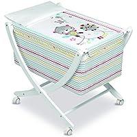 Pirulos 61113510 - Minicuna diseño espín, color blanco ...