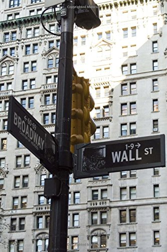 Wall Street Sign in New York City Journal: 150 page lined notebook/diary -