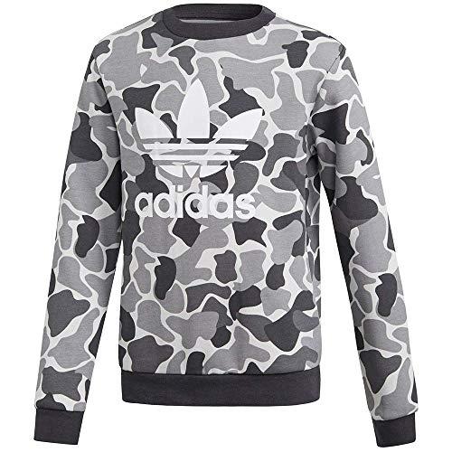 adidas Jungen J TRF C Crew Sweatshirt, Mehrfarbig (Carbon), 140 (9/10 años) - J Crew Pullover