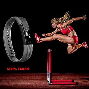 NAKOSITE SB2433 Pulsera Actividad Inteligente Podómetro Fitness reloj Fitness Tracker, Contador de Pasos, Calorías, Monitor de Sueño,Distancia. Bluetooth 4.0,para Android 4.4 o IOS 7.1 y posteriores