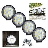 VINGO4x 27w LED Arbeitsbeleuchtung Runde Offroad Scheinwerfer LKW Man Zubehör Weiß Strahler 10-30V