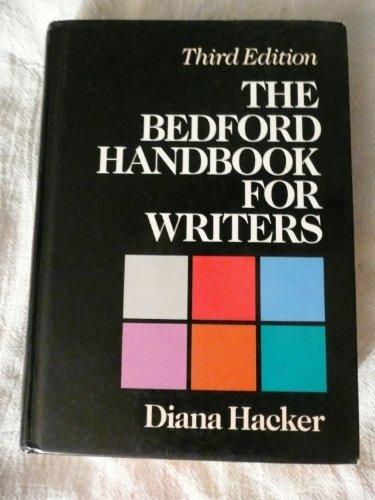 The Bedford Handbook for Writers by Diana Hacker (1994-04-01) par Diana Hacker