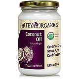 Alteya Organic extra virgin kokosolie 350ml - 100% USDA gecertificeerde biologische pure natuurlijke extra vierge kokosolie (