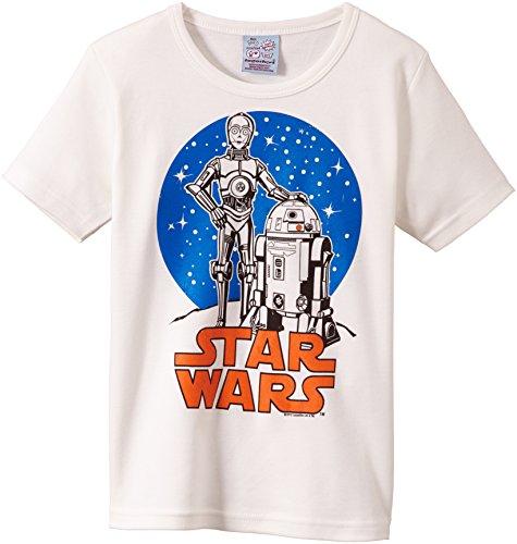 Logoshirt Jungen T-Shirt Star Wars Droid, Weiß (Almost White), 3 (Kostüm R2d2 Für Jungen)
