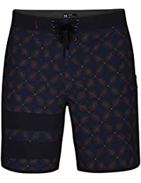 Hurley Phtm Block Party Drum Circle 18' Pantalones Cortos, Hombre, Azul (Force), 30